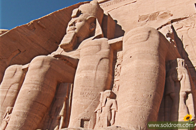 Close-up of Ramses II (so many syatues are by this Pharao).