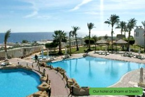 From the hotel in Sharm el-Sheikh