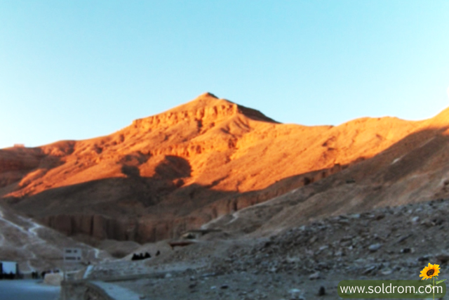 The sunrise in The Valley of the Kings