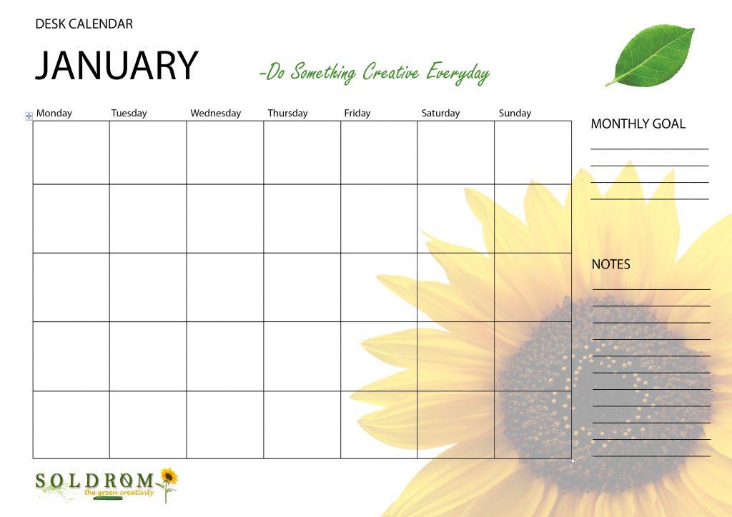 free printable desk calendar