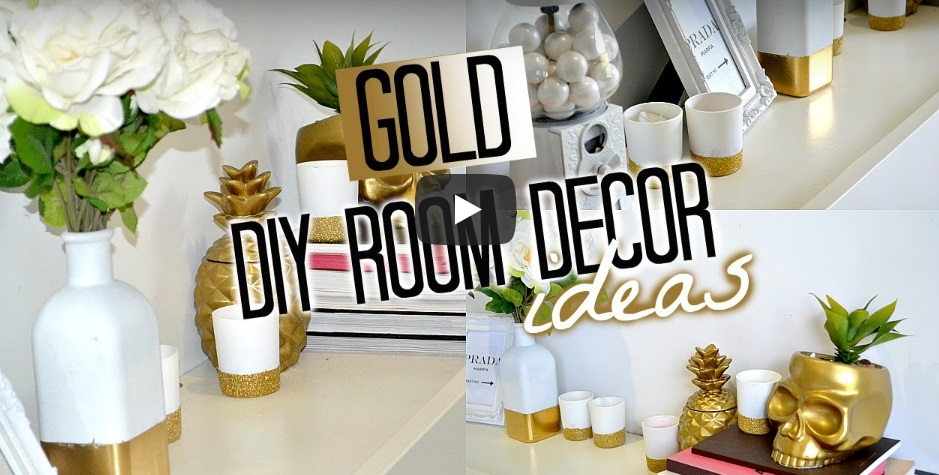 diy gold interior