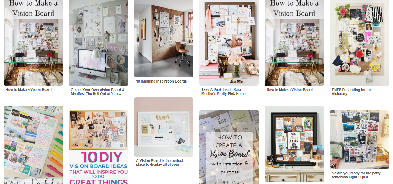 pinterest vision board ideas