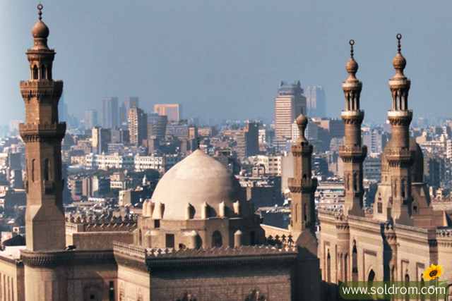 The view from the Citadel, this is Cairo
