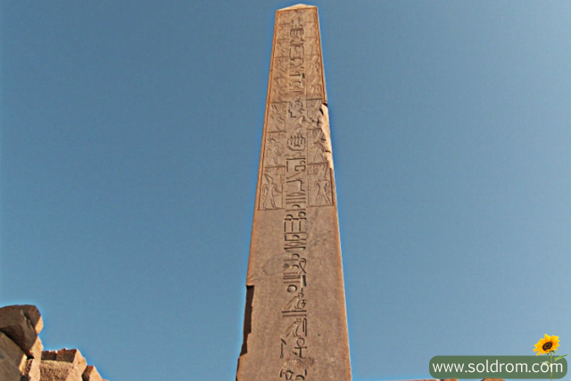 The Obelisk of Queen Hatsheptut at Karnak Temple, in Luxor