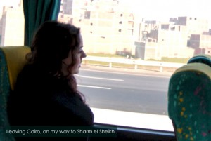 Me on the bus, as I'm leaving Cairo