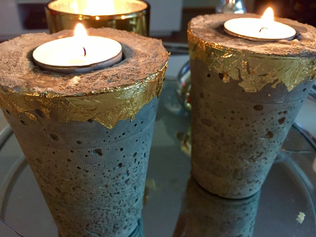 diy concrete tealight